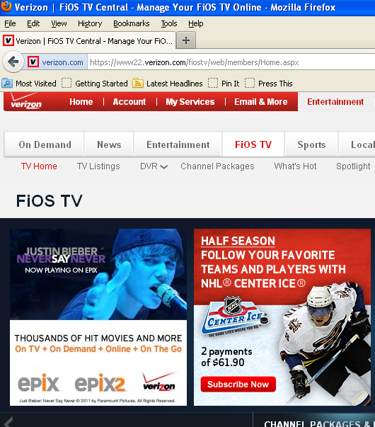 verizon fios caps nhl ad