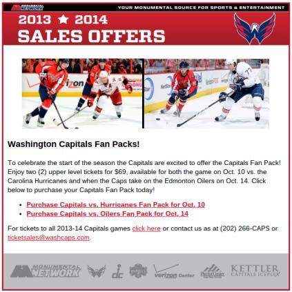 Caps fan packs