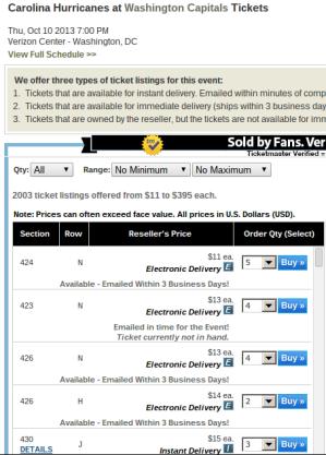 Hurricanes Ticket Exchange